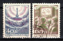 Tchécoslovaquie 1957 Mi 1044-5 (Yv 929-30), Obliteré - Usados