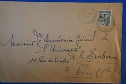 453 TUNISIE BELLE LETTRE 1932 RARE PAR PAQUEBOT MARSEILLE ST CHARLES POUR PARIS RUE DES ECOLES VI EME - Lettres & Documents