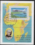 SAINT THOMAS ET PRINCE - UPU Mail Service Plane Aviation Rowland Hill Africa/Map - Sao Tome En Principe