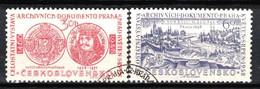 Tchécoslovaquie 1958 Mi 1073-4 (Yv 957-8), Obliteré - Usados