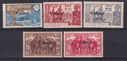 CAMEROUN - FRANCE LIBRE - 1944 - VALMY - YVERT N° 240/244 * MLH - COTE 2015 = 100 EUR. - Neufs