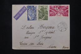 A.E.F..- Enveloppe De Libreville Pour Cosne En 1947, Affranchissement Varié - L 103160 - Lettres & Documents