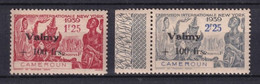 CAMEROUN - FRANCE LIBRE - 1944 - VALMY - YVERT N° 243/244 * MLH GOMME COLONIALE - COTE 2015 = 40 EUR. - Neufs