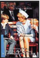 SAINT THOMAS ET PRINCE - Princesse Lady Diana, Prince William & Henry - Sao Tome En Principe