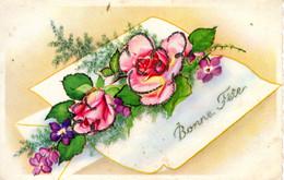 CP Fete Voeux Bonne Fleurs 1966 Hamon Bayeux - Otros