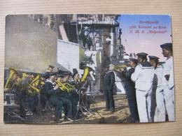 CPA - S.M.S. HELGOLAND - BORDKAPELLE GIBT KONZERT AN BORD - Warships