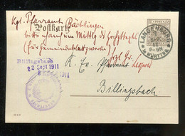 "Wuerttemberg - 1911 - Dienstpostkarte K1-Stempel ""LANGENBURG"" (2825) - Wurtemberg"