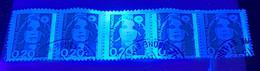 5 Timbres Marianne De Briat - Le Timbre Du Centre Est Phospho - Tariffe Postali