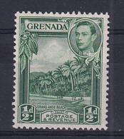 Grenada: 1938/50   KGVI     SG153a     ½d   Blue-green   [Perf: 12½]   MNH - Grenada (...-1974)