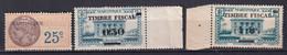 MARTINIQUE - 3 TIMBRES FISCAUX - Revenue Stamps