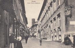 AREZZO-CORSO VITTORIO EMANUELE-ANIMATISSIMA-CARTOLINA NON VIAGGIATA -1915-1925 - Arezzo