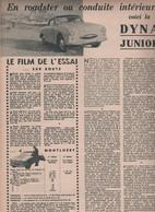 La DYNA Junior - Publicités