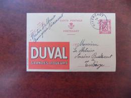 """EP Belgique Publibel 600 """" Liqueurs Duval """" - Rixensart 1940 - Publibels"""