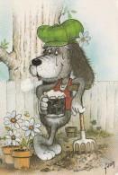 Les Loisirs   Le Jardinage Signée RIKO ( Sur Le Pot ) - Otros Ilustradores