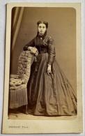 CDV. Portrait D'une Femme. Robe. Photographe Provost. Toulouse. France. - Oud (voor 1900)