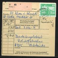 DDR Paketkarte Wirtsschaftspaket 28.3.7? - Briefe U. Dokumente