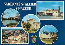 03 - Varennes Sur Allier - Chazeul : Multivues - CPM écrite - Autres Communes