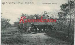 Belgisch Congo Belge Katanga Elisabethville Nivellement D'une Ermitiere Natives At Work Ethnique Etnic CPA Africa Afrika - Congo Belga - Altri