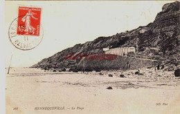 CPA HENNEQUEVILLE - CALVADOS - LA PLAGE - Unclassified