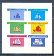 BERNERA ISLAND SHEET SHIPS IMPERFORED        MNH - Ships