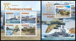 MOZAMBIQUE 2019 - Normandy Landings - YT 8738-41 + BF1512, CV=38 € [MOZ190525] - Ships