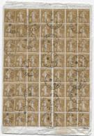 Lettre Recommandée De VIELS MAISON Verso Bloc De 26 Timbres 1c Type SEMEUSE Recto Timbres Mercure - 1906-38 Sower - Cameo