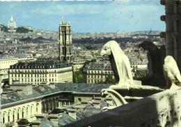 PARIS - VUE GENERALE PRISE DES TOURS DE LA CATHEDRALE NOTRE DAME - LA COLLINE DE MONTMARTRE - LA TOUR SAINT JACQUES - Distrito: 04