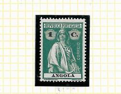 ANGOLA STAMP - 1914 CERES P.PORCELANA D:15X14 Md#144 MH (LAN#38) - Angola