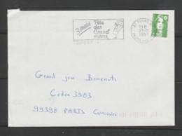 Flamme Dpt 37 : TOURS RP (SCOTEM N° 11409? Du 07/01 => 03/03/1991) : Fête Des Grand'mères 3 Mars 1991 - Mechanical Postmarks (Advertisement)