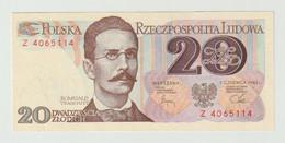 Banknote Polen-poland 20 Zlotych 1982 UNC - Polonia