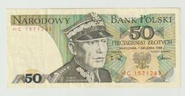 Used Banknote Polen-poland 50 Zlotych 1988 - Polonia
