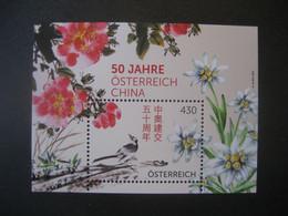 Österreich 2021- Block 50 Jahre Österreich - China 430 Ct. **ungebraucht - Blokken & Velletjes