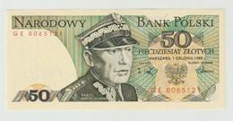 Banknote Polen-poland 50 Zlotych 1988 UNC - Polonia