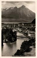 Interlaken - Blick Auf Unterseen U. Niesen (3051) - BE Berne