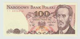 Banknote Polen-poland 100 Zlotych 1988 UNC - Polonia