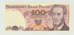 Banknote Polen-poland 100 Zlotych 1986 UNC - Polonia