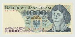Banknote Polen-poland 1000 Zlotych 1982 UNC - Polonia