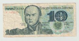 Used Banknote Polen-poland 10 Zlotych 1982 - Polonia