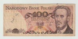 Used Banknote Polen-poland 100 Zlotych 1982 - Polonia