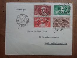 FRANCIA 1936 - Lettera Spedita In Germania + Spese Postali - Cartas