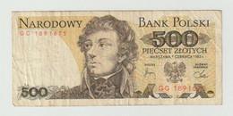 Used Banknote Polen-poland 500 Zlotych 1982 - Polonia
