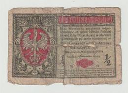 Used Banknote Polen-poland-polskie 1/2 Marki 1917 WW1 - Polonia