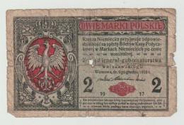 Used Banknote Polen-poland-polskie 2 Marki 1917 WW1 - Polonia