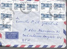 POLOGNE Lettre 1989 Bateaux - Ships