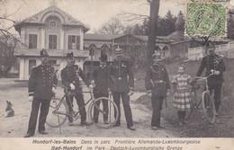 LUXEMBOURG - MONDORF LES BAINS - Dans Le Parc Frontière Allemande-Luxembourgeoise 1912 - Mondorf-les-Bains