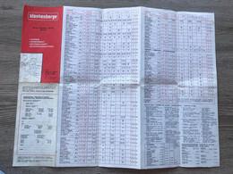 Blankenberge Plan 1978 - Logies/logement - Alle Hotels Met Faciliteiten - Autres