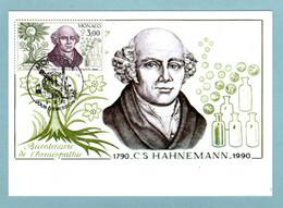Carte Maximum Monaco 1990 - Découverte De L'homéopathie - S. Hahnemann - YT 1739 - Maximum Cards