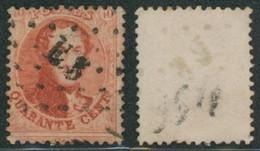 """Médaillon Dentelé - N°16 Obl Ambulant Pt E.3 """"Bruxelles-Verviers"""" - 1863-1864 Medallions (13/16)"""