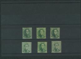 Médaillon Dentelé - Petit Lot De 6x N°13 Avec Ou Sans Gomme * / (*) Pour étude De Nuance. - 1863-1864 Medallions (13/16)