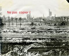 PHOTO ALLEMANDE - PANORAMA SUR LES RUINES DE YPRES - YPERN BELGIQUE - GUERRE 1914 1918 - 1914-18